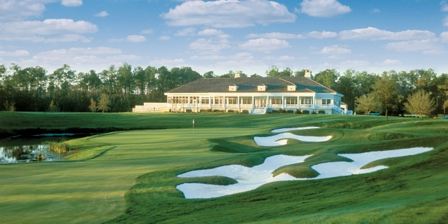 TPC Myrtle Beach #18 and Clubhouse