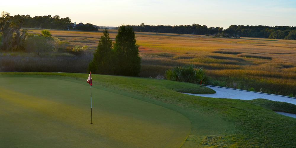 18th Hole at Sunset